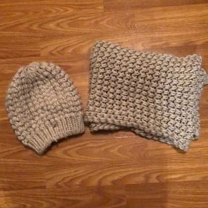 Cozy Knit Beanie and Circle Scarf
